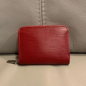 Authentic Louis Vuitton Red Epi Leather Wallet